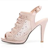 Sapatos Femininos Top Fashion Promotion Lace-up Sandalias 2014 Women's Shoes Thin Heels High-heeled Open Toe Sandals Shoe Female