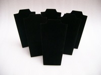 Wholesale Jewelry Display 30 pieces Necklace Display Necklace Stand black velvet Necklace Holder Necklace&pendant holder