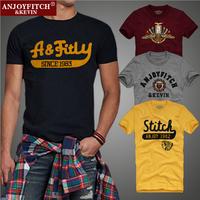 New 2014 American Indians Style Summer Cotton Black Short Sleeve Men T-shirt Man Tees Male Apparel T Shirt S-XXL #6173