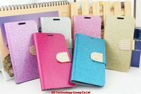 Diamond Leather case for Samsung Galaxy S5 i9600 Glitter holster Phone Card Pouch luxury Buckle leather phone case Holder cover