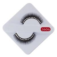High Quality Regular Long Thick  Rhinestone Fake Eyelash False Eyelashes Free Shipping Wholesale No Glue Women Eye Makeup Party