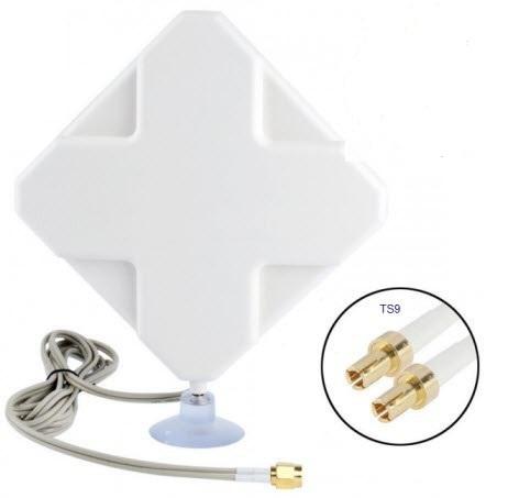Ts9 Connector Antenna 4g 35dbi Antenna 2*ts9