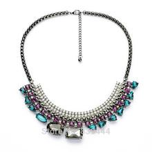 2014 New Design Fashion Accessories Luxury Hematite Crystal Rhinestone Necklace free shipping(China (Mainland))