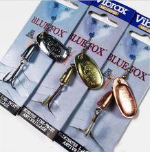 Blue Fox Vibrax 3pcs / lote 3 # gancho de metal Pesca Spinner Bait Carp Bass Fishing Iscas de anzóis Spinner Lure VIB Blades Enfrente(China (Mainland))
