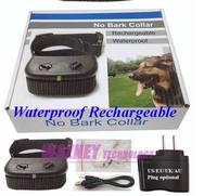 100pcs/lot*6 Level Rechargeable Waterproof  Anti No Bark Shock Vibration Dog Anti No Bark pet Training Shock  Collar