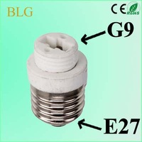 Free Shipping!100 pcs/lot lamp adapter E27 to G9 lamp cap adapter E27 to G9 LED Light Lamp socket converter High Quality