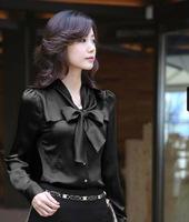 2014 new spring Korean style women blouses slim professional chiffon blouses women free shipping Z4263