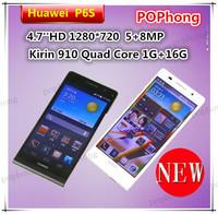 Original Huawei Ascend P6 P6S Slim Android Phone 8MP 4.7''1280*720 Hisilicon K3V2 Quad Core 2GB RAM