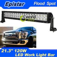 "120W Epsitar LED Work Light Led Bar 21.3"" 12000lm Flood&Spot Light 40pcs*3W leds For Offroad SUV Truck 4WD 4x4 Boat Tractor"