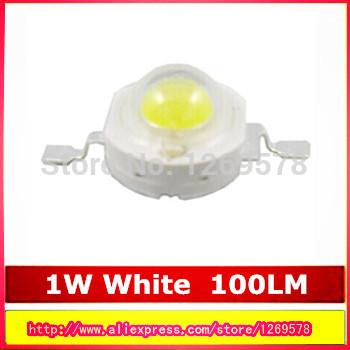 50PCS/LOT Original 1W high power LED white / warm white bulb LED 100-110LM Taiwan chip Free Shipping(China (Mainland))