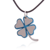 Fashion Necklace Women Gold And Platinum Plated Clover Necklaces & Pendants Nickel Free Crystal Jewelry Free Shipping