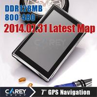 7 inch GPS navigation 800MHZ Cortax A7 MTK 4GB DDR 128 MB 800*480 gps vehicle navigator GPS700301