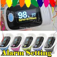 Beep added** OLED*Alarm*Sound*SPO2*PR Waveform*4Directions*6 Modes*Pulse Oximeter Blood Oxygen Monitor 5 Colors Heart Beat