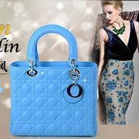 Wholesale - hot sale 2014 fashion women original calfskin leather gorgeous lady women handbags