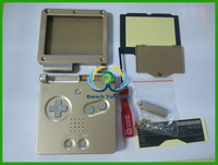 Free Shipping Gold Case Shell Full Housing For Gameboy Advance SP for GBA SP