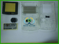 Free Shipping Crystal Case Shell Full Housing For Gameboy Color for GBC No screws!