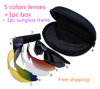 8pcs/Set Wholesale Multi-color Sport Sunglasses Riding Glasses Cycling Bicycle Bike Eyewear 0089