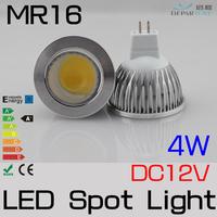 10x4W  DC/AC12V High Brightness COB MR16  Refletor LED Spotlight,white/warm white  lampada led  For home lighting FREESHIPPING