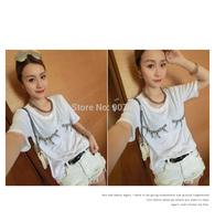Women Korean Style Wild White Cotton Denim Shorts hole Jeans