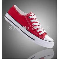 Size 35-43 Hot 2014 fashion unisex low men women sneakers for women sneakers for men and canvas shoes lacing flat casual shoes
