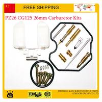 26mm carburetor kits pz26 vm22 CG 125CC motorcycle repair tools gasket jet gasket idle valve needle carbs accessories parts