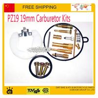 70cc 90cc 110cc PZ19 19mm carburetor kits motorcycle repair tools gasket jet gasket idle valve needle carbs accessories parts