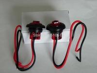 "Pair of Red Multi-Voltage 10V~30V 1.1"" Waterproof CE Quality LED trailer/Truck/Boat/RV Clearance Marker Light + Rubber Grommet"