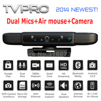 TVPRO Android tv box Allwinner A31s Quad core 1.2GHz 1GB/8GB 5M HD Webcam Dual Mics bluetooth with air mouse et top box