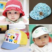 Summer models baby hat visor cap baseball cap hat baby small pots small cap breathable hat T6034