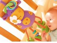 28cm Germany TOLO animal Mavericks baby lathe hanging plush toys musical 0-12 month rattle mobile  r043