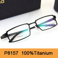 Brand New 2014 Original Spetacle Frame P8157 Fashion Pure Titanium Optical Frame Full-Rim Eyeglasses 8157 Eyewear Free Shipping