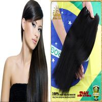 Cheap Human Hair Straight 3/4pcs LOT Unprocessed Queens Hair Products Brazilian Straight Virgin Hair Bundles Women Wig Free Ship