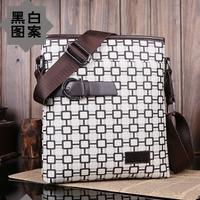 New Arrived Fashion men's messenger bag Vintage London printing leather shoulder bag Handsome  crossbody bag Free Shipping