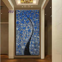 Thick Textured Baroque Style  Modern Hand painted  Palette Knife Oil Painting  Canvas  Wall Art  Gift ,Home Decoration XDH110-4