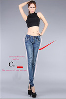 2014 hot sell sexy jeans boot cut hight waist + Mid Waist Pencil Pants Trousers Skinny Jeans Women