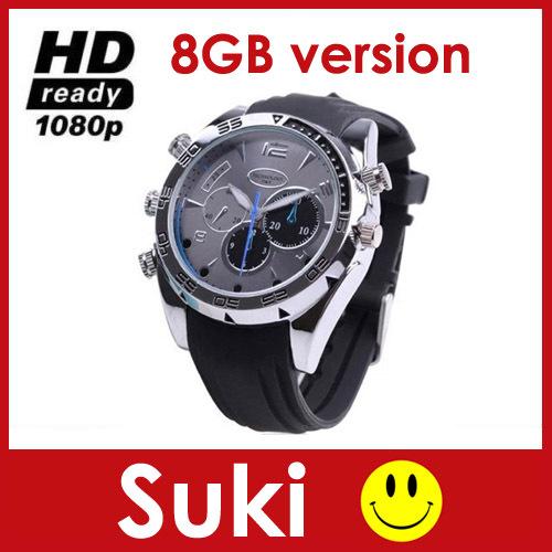 Full HD Waterproof Spy Watch Camera 1080P Hidden Watche Video Recorder With IR Night Vision Digital DV DVR Mini Cam 8GB TF Card(China (Mainland))