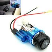 W110New 12V 120W Car Motorcycle Motorbike Cigarette Lighter Power Socket Plug Outlet 4Colors