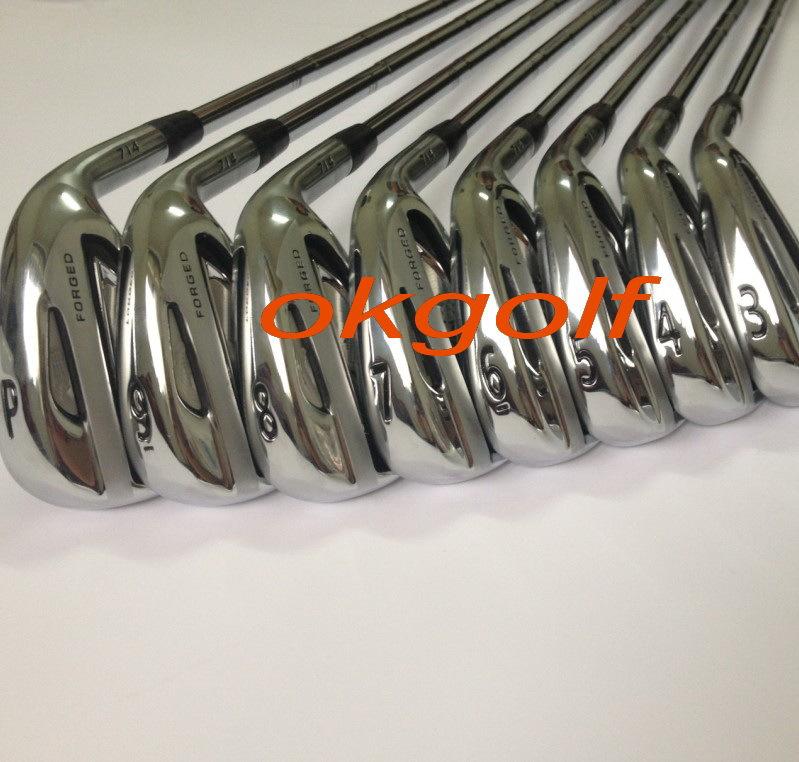 2014 ferri di golf nuovo 714 ferri forgiati set con progetto originale x6.0 albero in acciaio di alta qualità mazze da golf