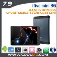 "Original FNF iFive mini 3G MTK8382 Quad Core Tablet PC 7.9"" IPS Retina Screen 1024x768 1GB 16GB Dual Band WiFi WCDMA 3G Call"