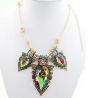 2014 Trend fashion vintage Luxury Crystal Necklaces & Pendants Big Brand Vintage Necklace Fashion Statement Necklace Women