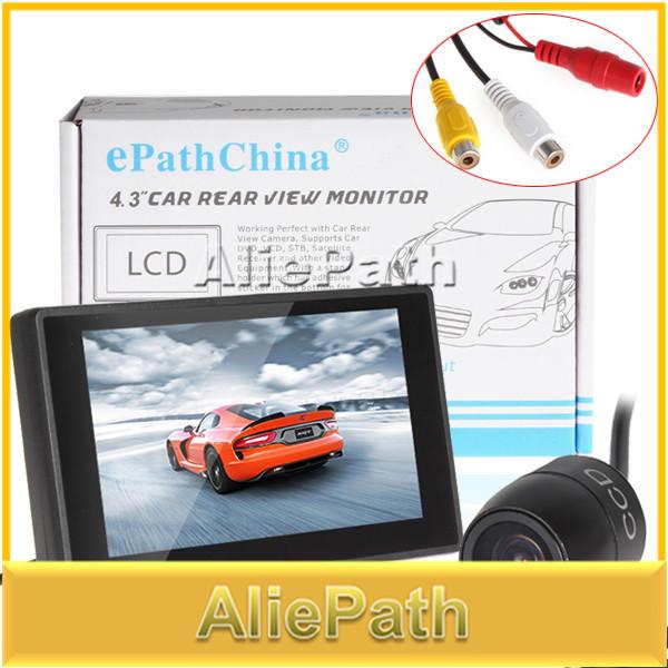 "Car Parking Kit With 4.3"" Color TFT LCD Display Car Rearview Monitor 480 x 272 Resolution + Waterproof Rear View Car Camera(China (Mainland))"
