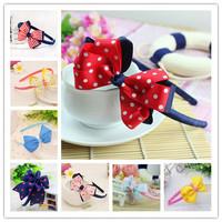more colours ribbon headband boutique hair bow kids hair bows Girls' hair accessories