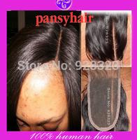 Bleached Knots Left t Part Lace Closure Peruvian body wave hair Closure Peruvian Virgin Hair Closure Tops