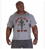 2014 Summer golds fitness men gasp Print bodybuilding gorilla wear shirt Brand sports vest Basketball Running Gym Plus Size