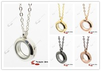 Free Shipping Magnetic 20mm 316L Stainless Steel Glass Pendant Floating Charm Locket (WITHOUT CHAIN)