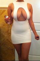 New 2014 Summer Dress Elegant Casual Women Clothing Winter White Nightclub Evening Party Sexy Bandage Dress Vintage Vestidos
