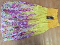 2014 Seconds Kill Sale Freeshipping Ruffles Floral Casual Worsted Cotton Chiffona-linesaia Longa Women Gile Drass Woman's Dress