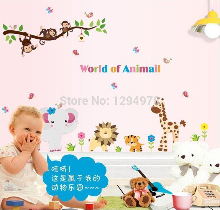 Little Monkey Murals Monkey Lion Murals Tree
