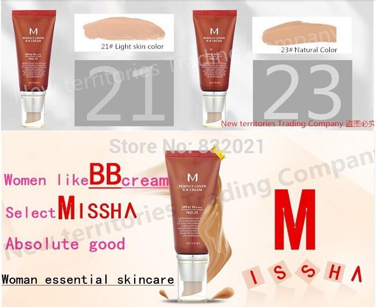 Hot nouveau maquillage. m missha couverture parfaite #21 ou #23 crème bb spf42 50ml avec boîte. livraison gratuite