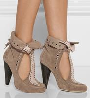 2014 New Isabel marant pumps sandals quality summer fashion high heel rivet decoration strap cutout high sandals genuine leather